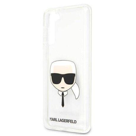 Husa Cover Karl Lagerfeld TPU Head pentru Samsung Galaxy S21 Plus Clear