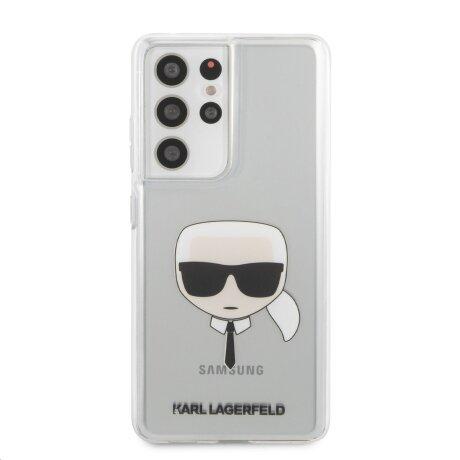 Husa Cover Karl Lagerfeld TPU Head pentru Samsung Galaxy S21 Ultra Clear