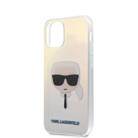 Husa Cover Karl Lagerfeld TPU Iridescente pentru iPhone 12 Mini Clear