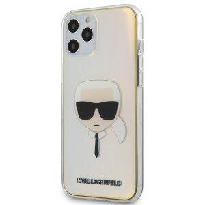 Husa Cover Karl Lagerfeld TPU Iridescente pentru iPhone 12 Pro Max Clear