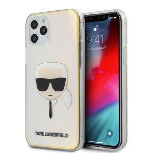 Husa Cover Karl Lagerfeld TPU Iridescente pentru iPhone 12/12 Pro Clear
