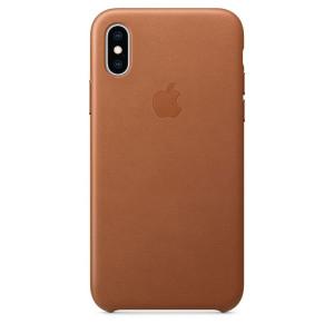Husa Cover Leather Apple pentru iPhone X/XS  Maro