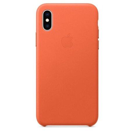 Husa Cover Leather Apple pentru iPhone X/XS MVFQ2ZM/A Orange