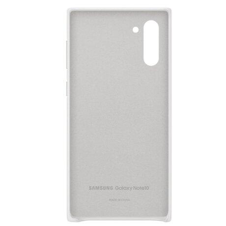 Husa Cover Leather Samsung pentru Samsung Galaxy Note 10 Alb