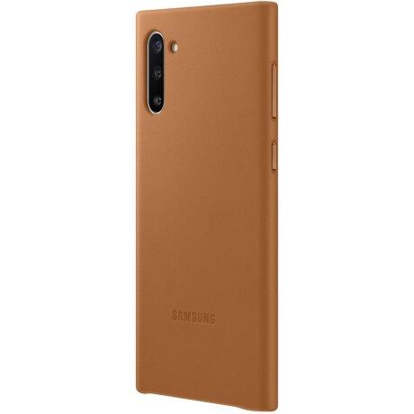 Husa Cover Leather Samsung pentru Samsung Galaxy Note 10 Maro