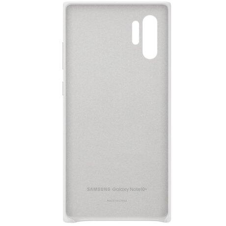 Husa Cover Leather Samsung pentru Samsung Galaxy Note 10 Plus Alb