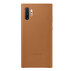 Husa Cover Leather Samsung pentru Samsung Galaxy Note 10 Plus Maro