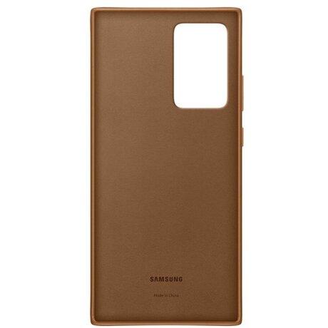 Husa Cover Leather Samsung pentru Samsung Galaxy Note 20 Ultra Brown
