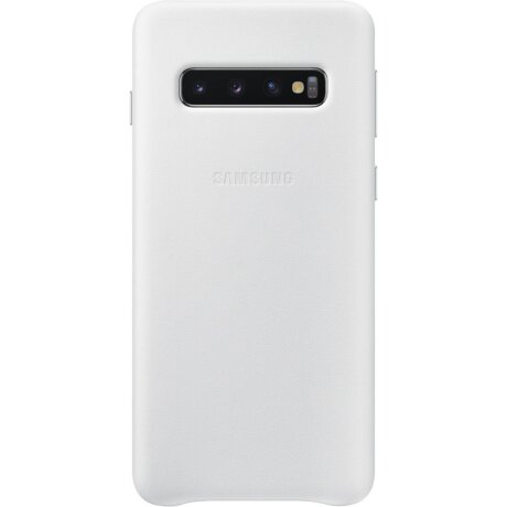 Husa Cover Leather Samsung pentru Samsung Galaxy S10 Alb