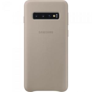 Husa Cover Leather Samsung pentru Samsung Galaxy S10  Gri