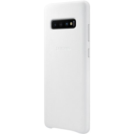 Husa Cover Leather Samsung pentru Samsung Galaxy S10 Plus Alb