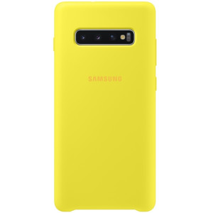 Husa Cover Leather Samsung pentru Samsung Galaxy S10 Plus Galben