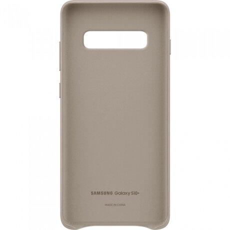 Husa Cover Leather Samsung pentru Samsung Galaxy S10 Plus Gri