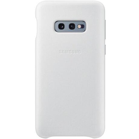 Husa Cover Leather Samsung pentru Samsung Galaxy S10e Alb