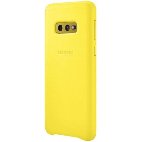 Husa Cover Leather Samsung pentru Samsung Galaxy S10e Galben