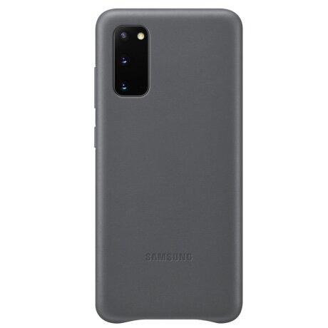 Husa Cover Leather Samsung pentru Samsung Galaxy S20 Gri