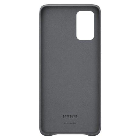 Husa Cover Leather Samsung pentru Samsung Galaxy S20 Plus Gri