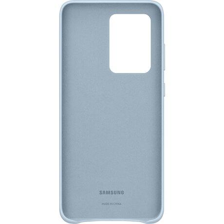 Husa Cover Leather Samsung pentru Samsung Galaxy S20 Ultra Albastru