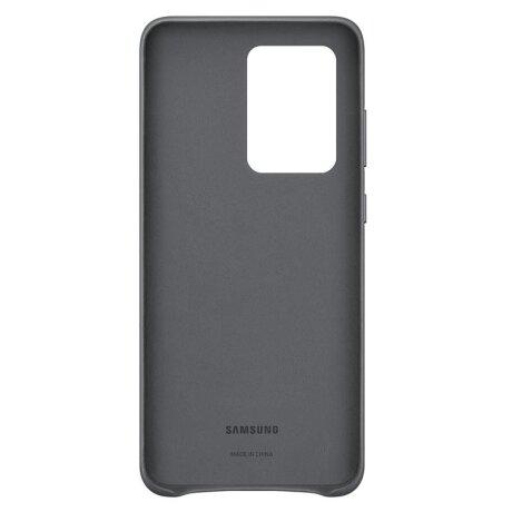 Husa Cover Leather Samsung pentru Samsung Galaxy S20 Ultra Gri
