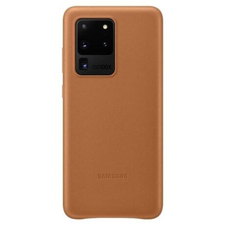 Husa Cover Leather Samsung pentru Samsung Galaxy S20 Ultra Maro