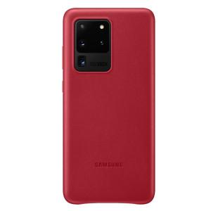 Husa Cover Leather Samsung pentru Samsung Galaxy S20 Ultra Rosu