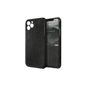 Husa Cover Leather Uniq Sueve pentru iPhone 11 Pro Max  Negru