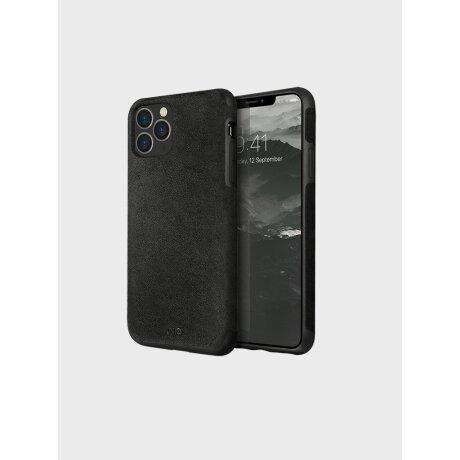 Husa Cover Leather Uniq Sueve pentru iPhone 11 Pro UNIQ-IP5.8HYB(2019)-SUVBLK Negru