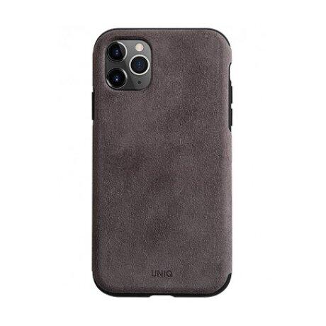Husa Cover Leather Uniq Sueve pentru iPhone 11 Pro UNIQ-IP5.8HYB(2019)-SUVWGY Gri