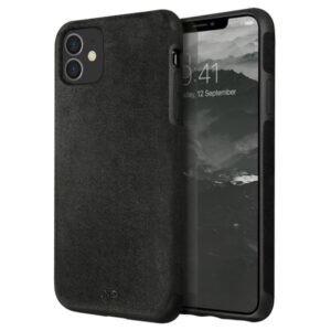 Husa Cover Leather Uniq Sueve pentru iPhone 11 Negru
