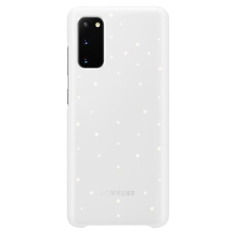 Husa Cover Led Samsung pentru Samsung Galaxy S20 Alb