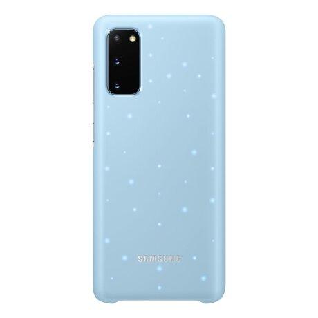 Husa Cover Led Samsung pentru Samsung Galaxy S20 Albastru