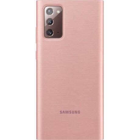 Husa Cover Led View  Samsung pentru Samsung Galaxy Note 20 Cooper Brown