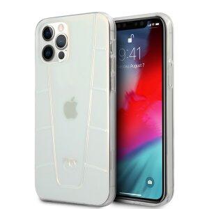 Husa Cover Mercedes Line Iridescent pentru iPhone 12/12 Pro Clear