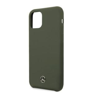 Husa Cover Mercedes Microfiber Lining pentru iPhone 11 Pro Verde