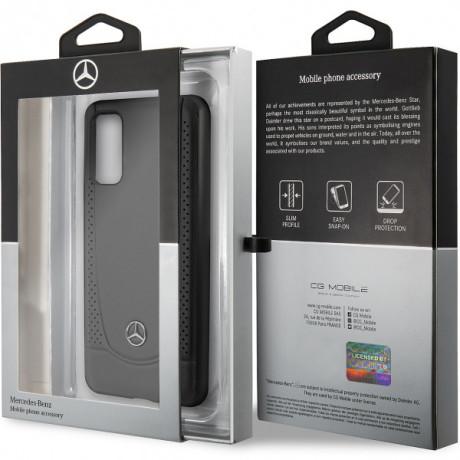 Husa Cover Mercedes Perforation pentru Samsung Galaxy S20, Negru