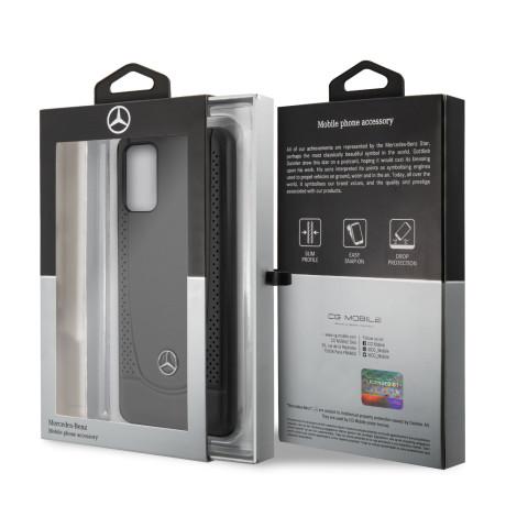 Husa Cover Mercedes Perforation pentru Samsung Galaxy S20 Plus Negru