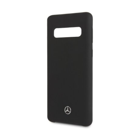 Husa Cover Mercedes Silicone pentru Samsung Galaxy S10 Black
