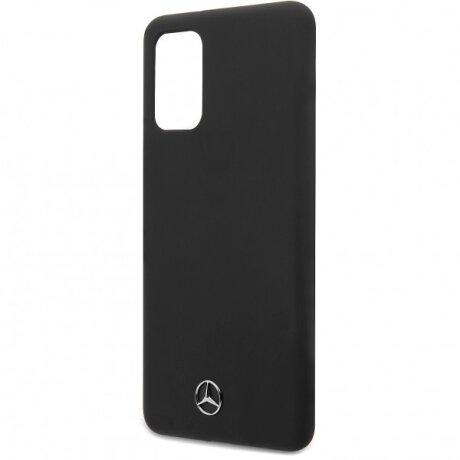 Husa Cover Mercedes Silicone pentru Samsung Galaxy S20 Negru