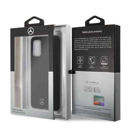 Husa Cover Mercedes Silicone pentru Samsung Galaxy S20 Plus MEHCS67SILSB Negru