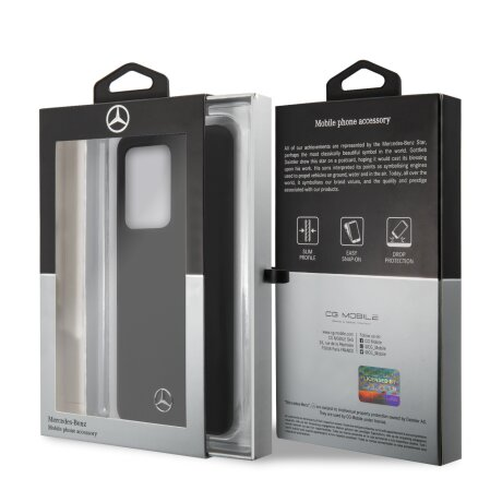 Husa Cover Mercedes Silicone pentru Samsung Galaxy S20 Ultra Black