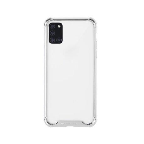 Husa Cover Mercury Hard Wonder pentru Samsung Galaxy A21s Transparent Rama Argintiu
