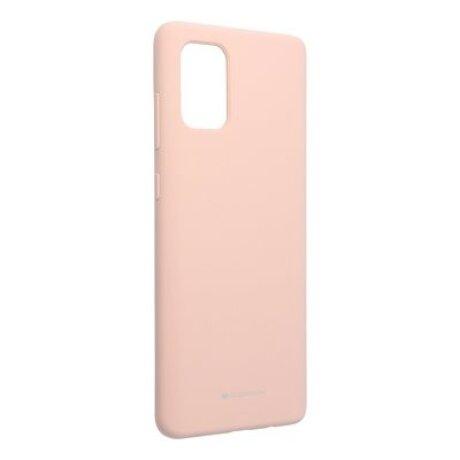 Husa Cover Mercury Silicon Jellysoft pentru Samsung Galaxy A21 Nude