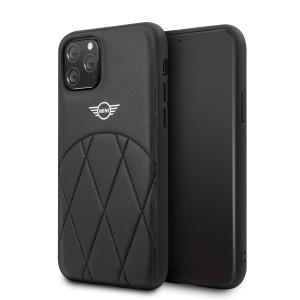 Husa Cover Mini Cooper Stitched Crossing Lines pentru iPhone 11, Negru