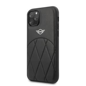 Husa Cover Mini Cooper Stitched Crossing Lines pentru iPhone 11 Pro Negru