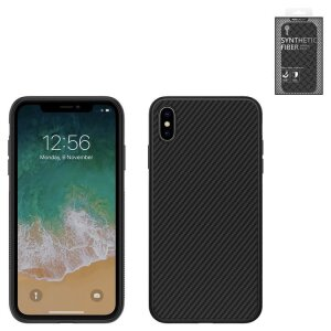 Husa Cover Nillkin Synthetic Fiber Pentru Iphone Xs Max Negru