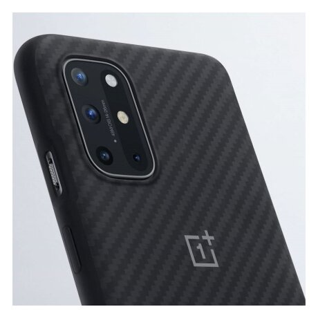 Husa Cover Plastic Bumper Karbon pentru OnePlus 8T Negru