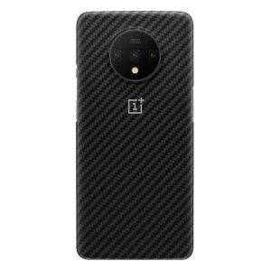 Husa Cover Plastic Karbon pentru OnePlus 7T Negru