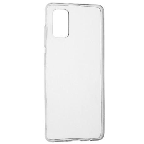 Husa Cover Senso Silicon pentru Samsung Galaxy A41 Transparent