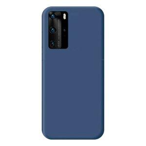 Husa Cover Senso Silicon Soft Mat pentru Huawei P40 Pro Albastru