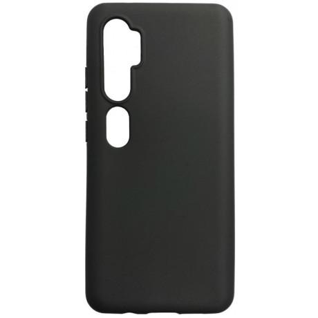 Husa Cover Senso Silicon Soft Mat pentru Xiaomi Mi Note 10/Mi Note 10 Pro Negru